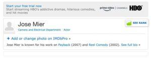 jose mier imdb search screenshot