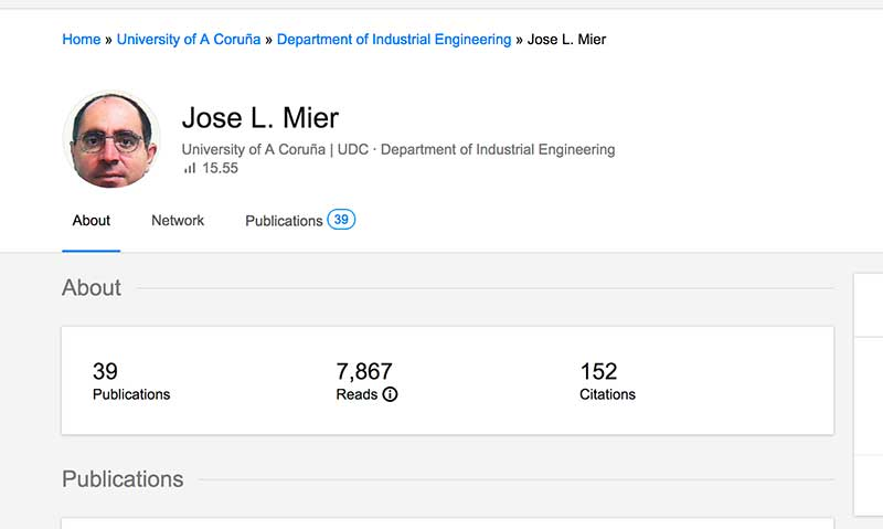 jose l. mier listing on researchgate