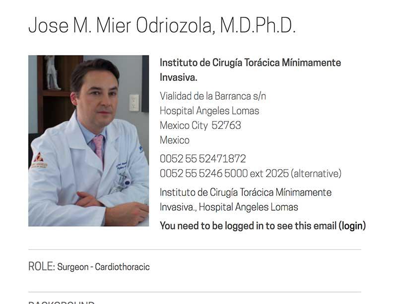 Jose Mier Thoracic Surgeon