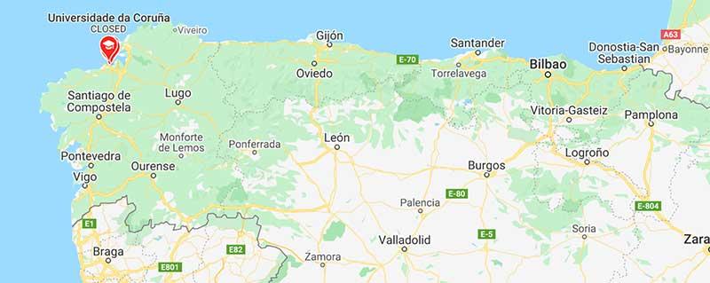 Jose Mier route from Santander to A Coruna