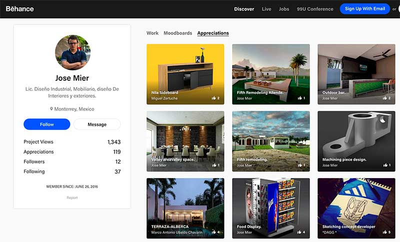 Jose Mier Behance Page