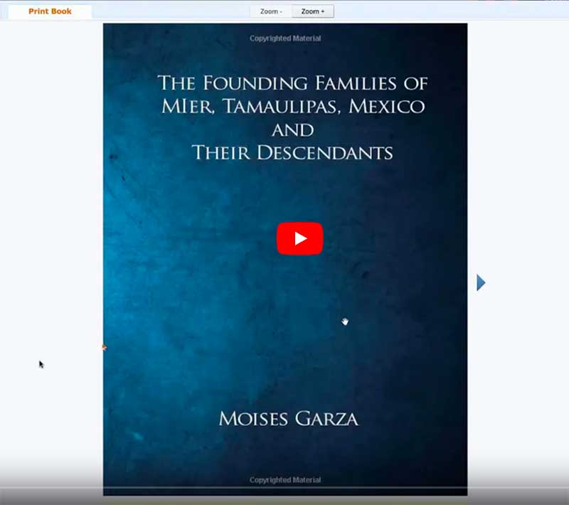 Book: Founders of Mier, Mexico