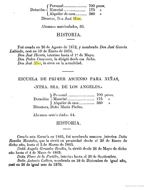 Jose Mier Cuban School Book 1894 page 85