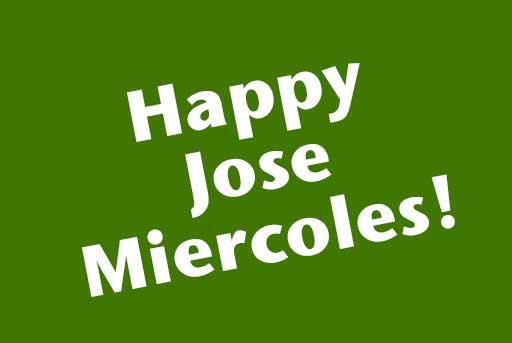 Happy Jose Miercoles infographic