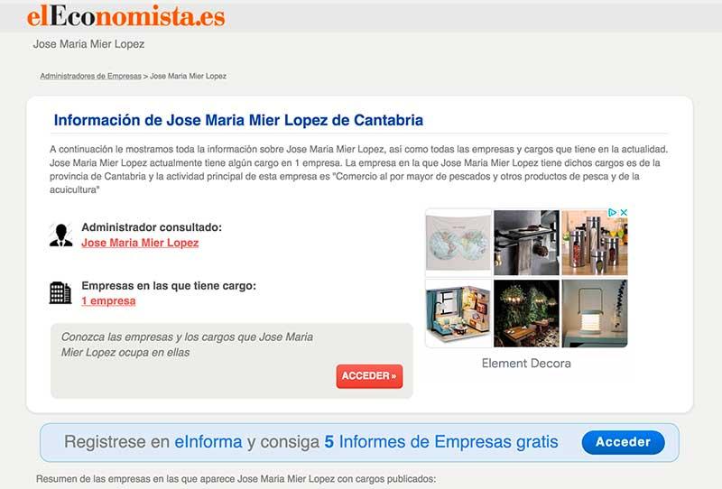 Jose Maria Mier in El Economista