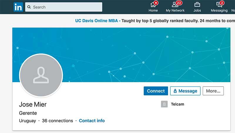 Jose Mier Linkedin profile