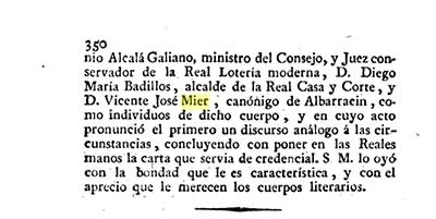 Page referencing Vincente Jose Mier