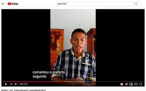 Brazilian Jose Mier on YouTube