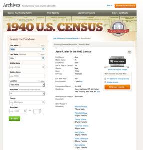jose mier information 1940 census