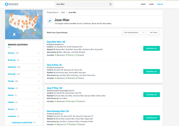 jose mier search on spokeo.com