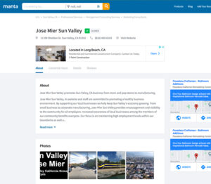 jose mier sun valley listing on Manta.com