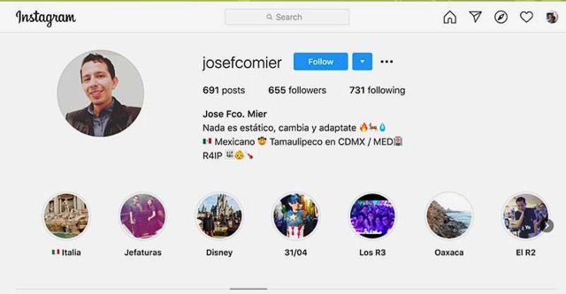 Jose Mier from Tamaulipas on Instagram