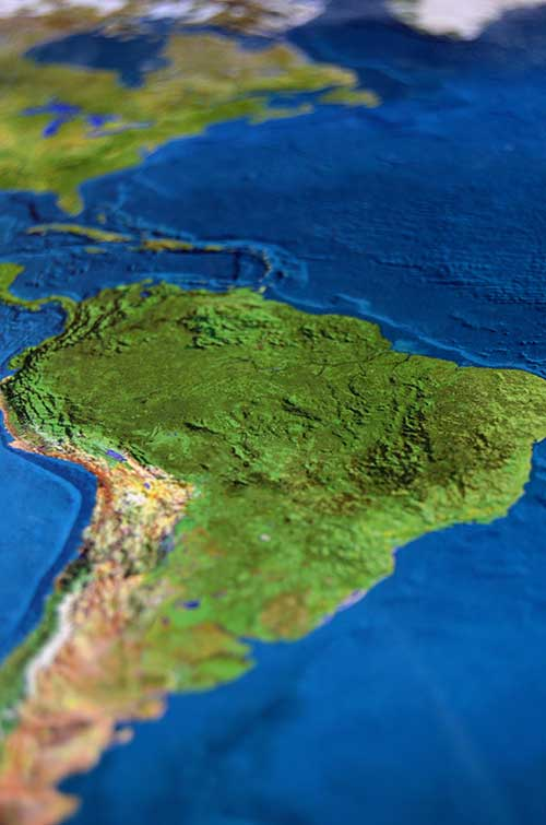 jose mier south american map