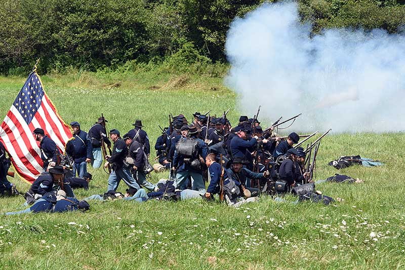 Civil War reenactment in Sun Valley with Jose Mier